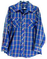 Wrangler Vintage Men's Shirt XL XLarge Western Southwestern Pearl Snaps Nice!