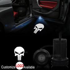 2x Car Door Punisher Skull Logo LED Welcome Laser Projector Ghost Shadow Light