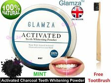 GLAMZA Activated Charcoal Toothpowder Teeth Whitening Black Powder Tooth 15g Tub