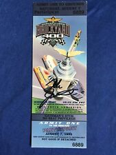1999 Brickyard 400 Winner Dale Jarrett Signed Ticket Stub NASCAR Indianapolis