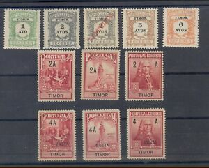 PORTUGAL TIMOR  - REVENUE - TAXE ( MULTA ) STAMPS - MINT/LIGHTLY HINGED
