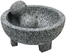 Granite Molcajete Mexican Stone Mortar And Pestle 6in. Bowl Spice Herb Grinder