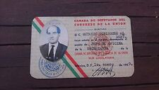 VTG 1959 RARE MEXICAN OBSOLETE WORKER ID-CHAMBER OF DEPUTIES-CAMARA DE DIPUTADOS