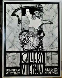 "Original 1989 ""GALLERY VIENNA"" Aubrey Beardsley-Art Nouveau Exhibition Poster"