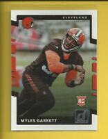 Myles Garrett RC 🏈 2017 Panini Donruss Rookie Card # 356 Cleveland Browns NFL