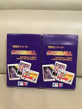 LOT OF TWO 1991 O-PEE-CHEE PREMIER BASEBALL WAX BOXES.