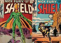 Nick Fury Agent of SHIELD #7, 8 STERANKO CLASSIC SALVADOR DALI COVER 1969 MARVEL