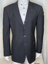 Armani Collezioni Sport-coat Mens Black/Gray Plaid SZ 44L 3button Wool Blend