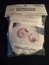 Vintage Eskimo Christmas Ornament Kit Santa Tiny Treasure Holiday Décor NOS