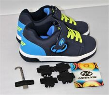 Heelys Boy's Dual Up X2 Navy/Royal Blue/Bright Yellow Skate Sneakers Shoes Size