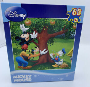Disney Mickey Mouse 63 Piece Puzzle Apple Tree by Mega Puzzles 2009 Hard to Find