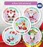48 Merry Christmas Stickers Label Santa present Personalised MATT & GLOSS