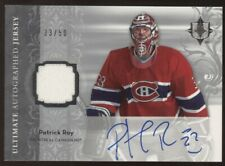 2006-07 UD Ultimate Collection Patrick Roy Game Jersey Auto 33/50