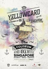 "YELLOWCARD ""BACK IN SINGAPORE"" 2014 CONCERT TOUR POSTER- Pop/Hardcore Punk Music"