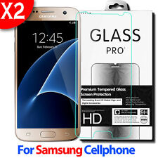 2X High Quality Real Premium Tempered Glass Screen Protector Film For Samsung 9H