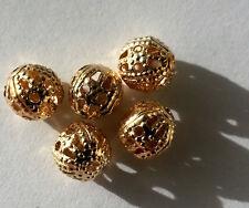 Modeschmuck 100 Metallperle Legierung Perle 6 mm Farbe altgold Kettenperlen A1