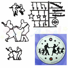 Sugarcraft Patchwork cutters - Jive Dancers Silhouettes - Cake decoration cutter