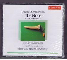 SHOSTAKOVICH BOX SET 2 CDs NEW THE  GAMBLERS/ THE NOSE/ GENNADY ROZHDESTVENSKY