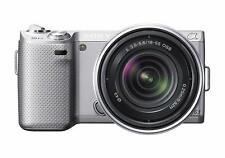 Sony Alpha NEX-5N 16.1 MP Digital Camera - Silver with 18-55mm F3.5 OSS lens Kit