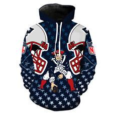 New England Patriots 3D Print Hoodie Men Sweatshirt Pullover Cosplay Jacket Coat
