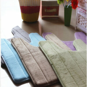 Flannel Fleece Anti-slip Pedestal Mat Soft Washable Bath Toilet Mat Pad40*60cmdd