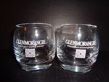 GLENMORANGIE (2) CRYSTAL WHISKY/ SCOTCH GLASSES Single Malt Scotch Whisky