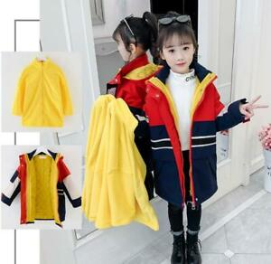 Winter Girl Three-in-one Long Cotton Windbreaker Padded Cotton Removable Jacket