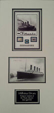 MILLVINA DEAN Signed 19x9 Photo Display. Youngest TITANIC SURVIVOR COA