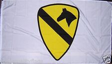 WHITE 1ST CAVALRY DIVISION ARMY MILITARY NEW 3X5 ft FLAG au