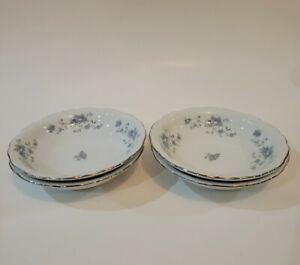 Fine China Dinnerware Individual Coupe Soup Bowls Traditions Vintage Johann Haviland  Blue Garland Multiple Available 7 58 inch