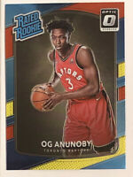 2017-18 Donruss Optic Rated Rookie Red Yellow #178 OG Anunoby RC Raptors MINT!
