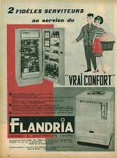 Publicité ancienne réfrigérateur Flandria issue de magazine 1950
