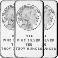 American Buffalo Bar by SilverTowne 10oz .999 Fine Silver Bar (3 pc)