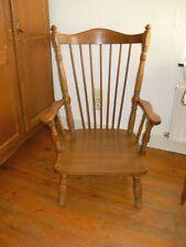 vintage chaise en bois fauteuil Windsor style scandinave chéne