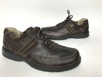 Clarks Slone Men's Brown Leather Casual Lace Up Shoes Size 11.5 M Oxfords 82469