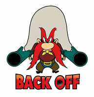 Yosemite Sam Back Off Sticker Vinyl Decal 3-100