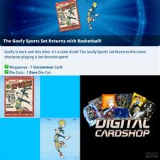 Topps Disney Collect Card Trader Goofy Sports Basketball Magazine & Die-Cut