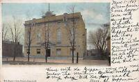 Masonic Temple, Freeport, Illinois, Early Postcard, Used in 1907