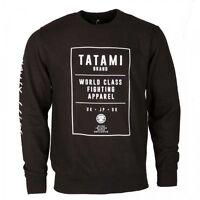 Tatami Brand Sweat Shirt Black Top BJJ Brazilian Jiu Jitsu Casual MMA Grappling