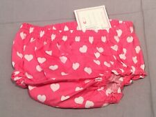 Pottery Barn Kids Set/3 Pink Heart Diaper Covers 6-12 Months