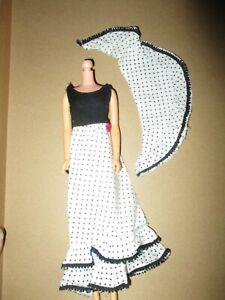HTF Vintage Barbie: FRANCIE 1974 Best Buy #7767 Black & White Dress & Shawl