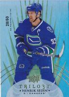 14-15 Trilogy Henrik Sedin /50 RADIANT GREEN Canucks 2014