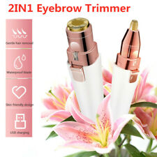Facial Face Eyebrow Trimmer Hair Removal 2in1 Shaver Electric Epilator Painless