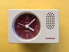 SIEMENS Wecker MELODIE Uhr QUARZ Flip Clock MU 21 KUGEL Diehl PANTON 60 70 weiss