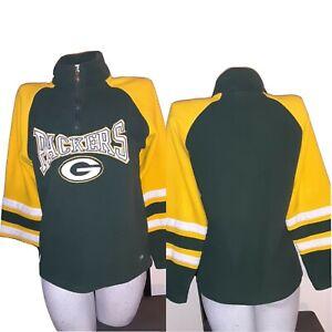 1990'S Green Bay Packers NFL  Youth Medium FLEECE ZIP PULLOVER 12/14   38 X 26