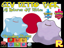 6IV DITTO PACK ?? 25x All Nature + Breeding Items ??LEGIT POKEMON SWORD & SHIELD