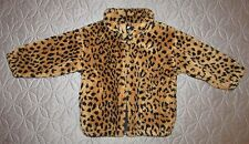 Baby Girl 18 Month Plush Leopard Faux Fur Jacket Coat EXCELLENT Fall Winter Warm