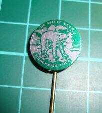 Broekema thee de witte beer  - stick pin badge 60s speldje Dutch sa1