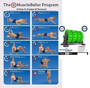 BackBaller EVA Foam Roller MuscleBaller Mounted Roller Focussed Muscle Relief