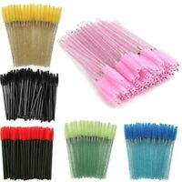 50Pcs Eyelash Brush Disposable Lash Extension Wand Mascara Spoolers Set jin